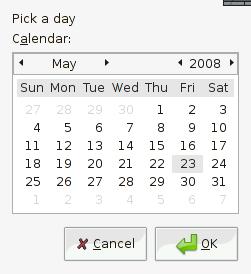 zenity calendar dialog