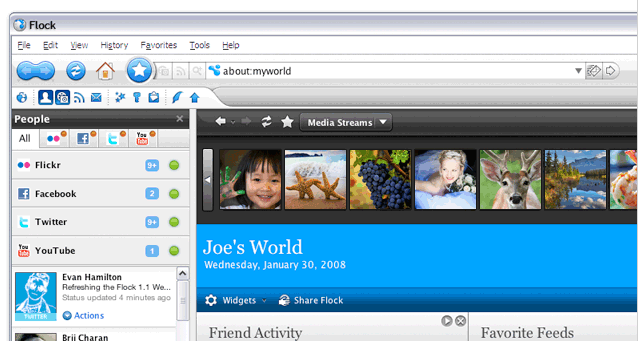 The social web browser - Flock